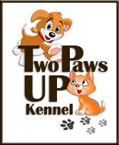 Two Paws Up Kennel logo